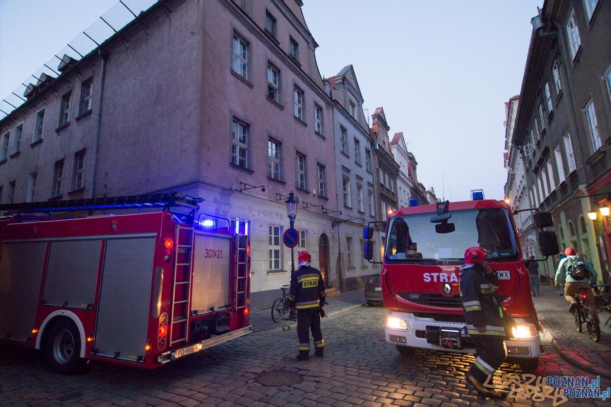 Interwencja Straży Pożarnej na ulicy Wodnej  Foto: lepszyPOZNAN.pl / Piotr Rychter