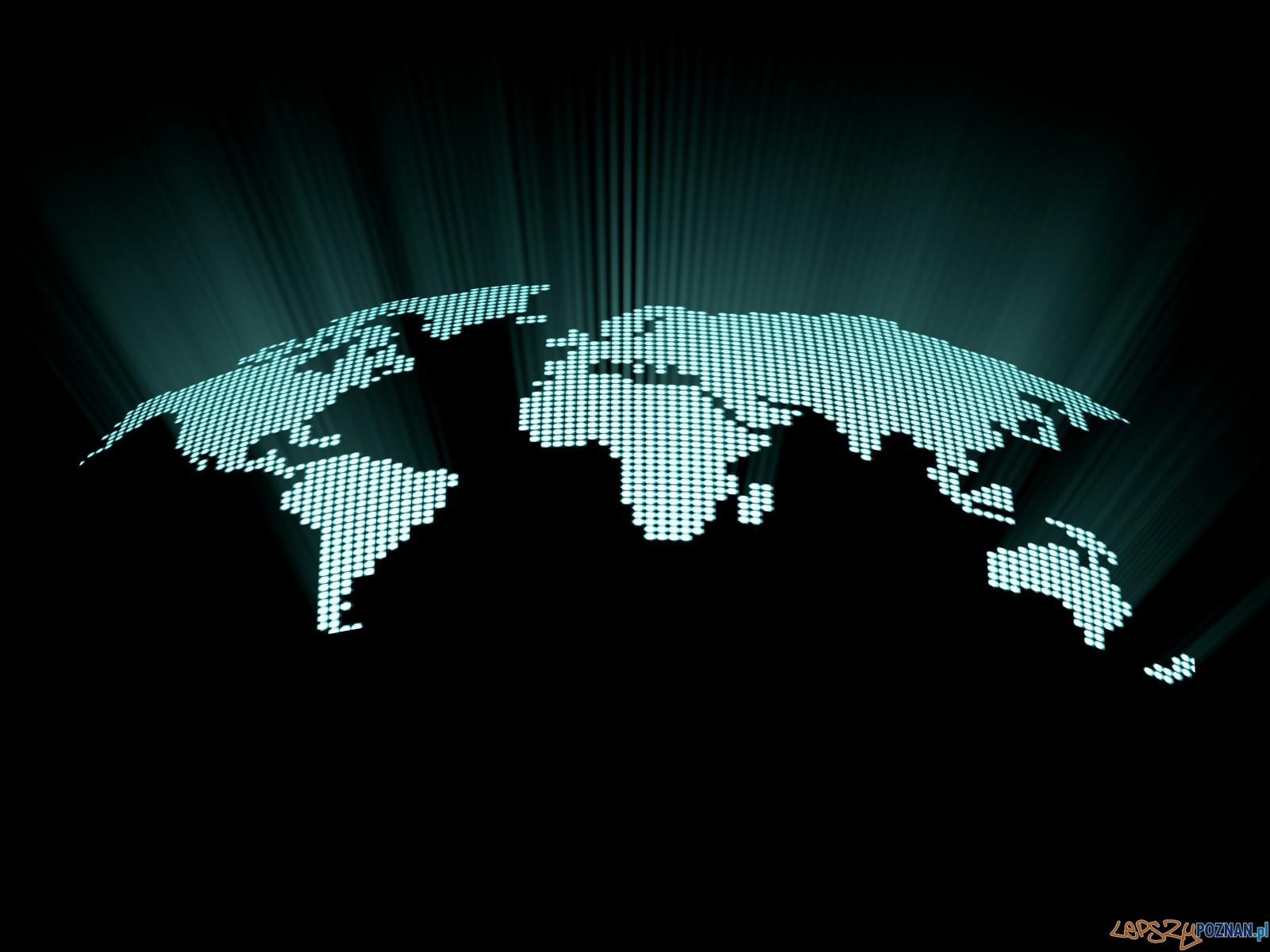 świat - mapa cyfrowa  Foto: sxc