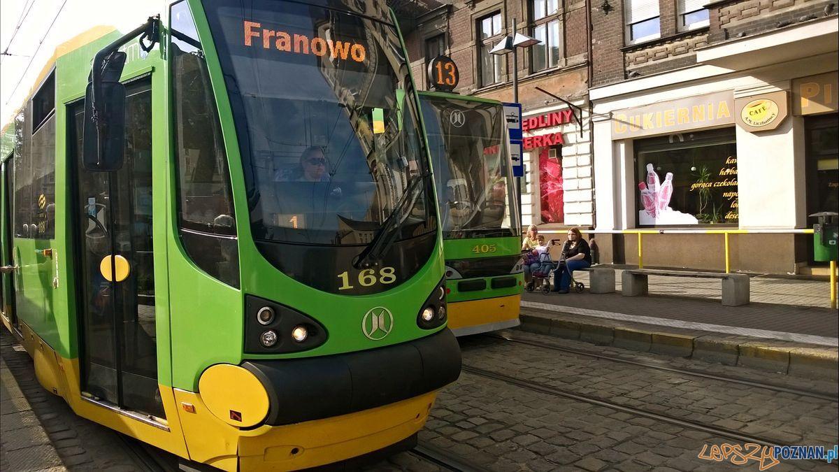 Tramwaj 13 na Bernardynach  Foto: TD
