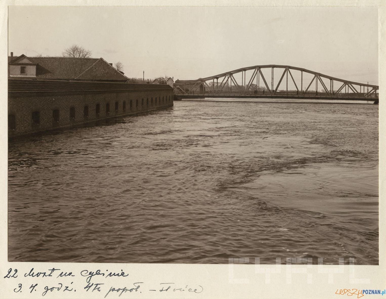 Most na Cybinie 3.04.1924  Foto: R.S. Ulatowski / MKZ / Cyryl