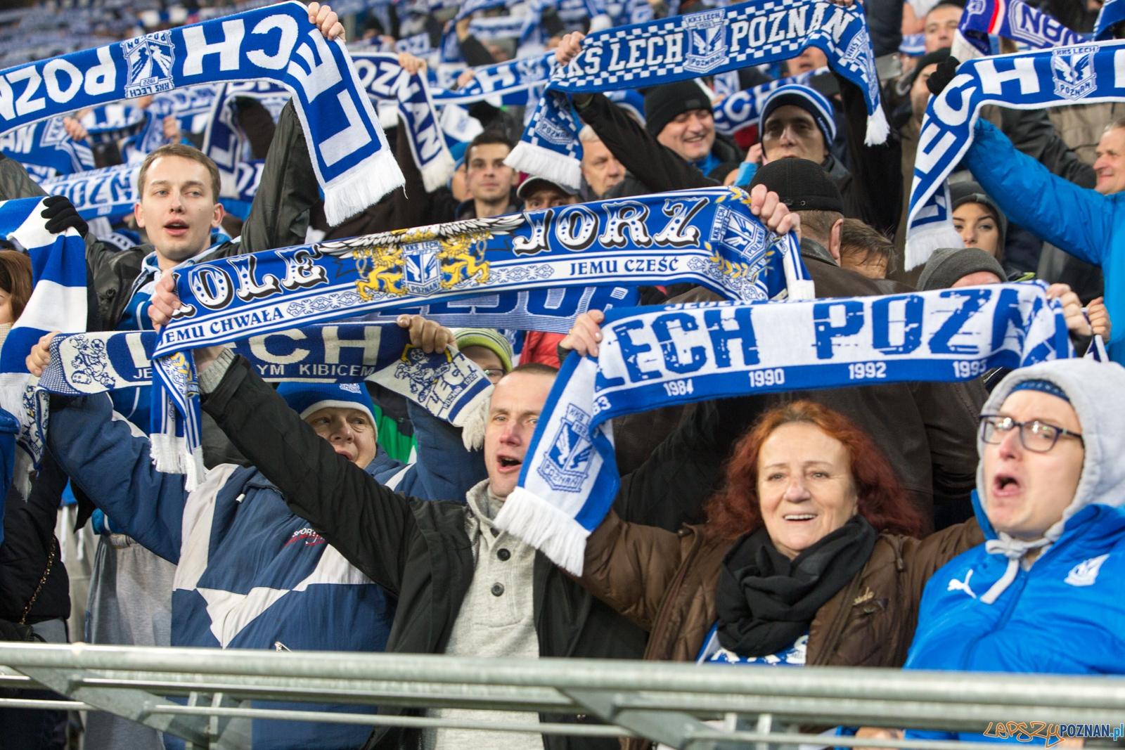 Liga Europy - KKS Lech Poznań - ACF Fiorentina (najlepsi kibice  Foto: lepszyPOZNAN.pl / Piotr Rychter
