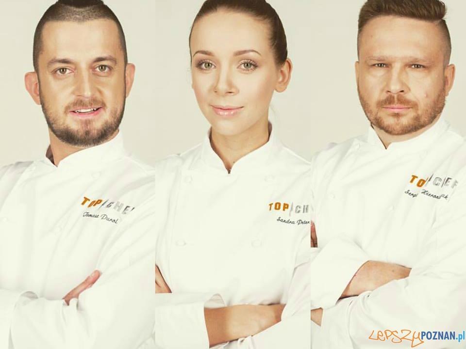 Top Chef, Sandra Kotowicz, Tomasz Purol i Sergiusz Hieronimczak  Foto: Polsat, Top Chef