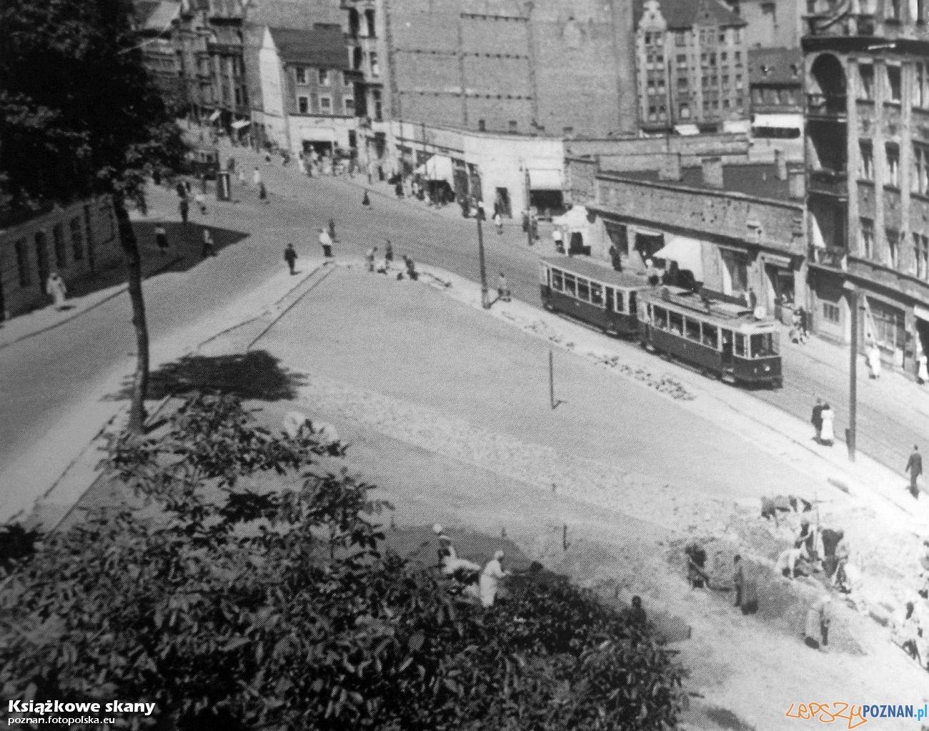 Polwiejska 1954 r  Foto: Z album Poznań - Miasto się zmienia - Wydawnictwa Miejskiego
