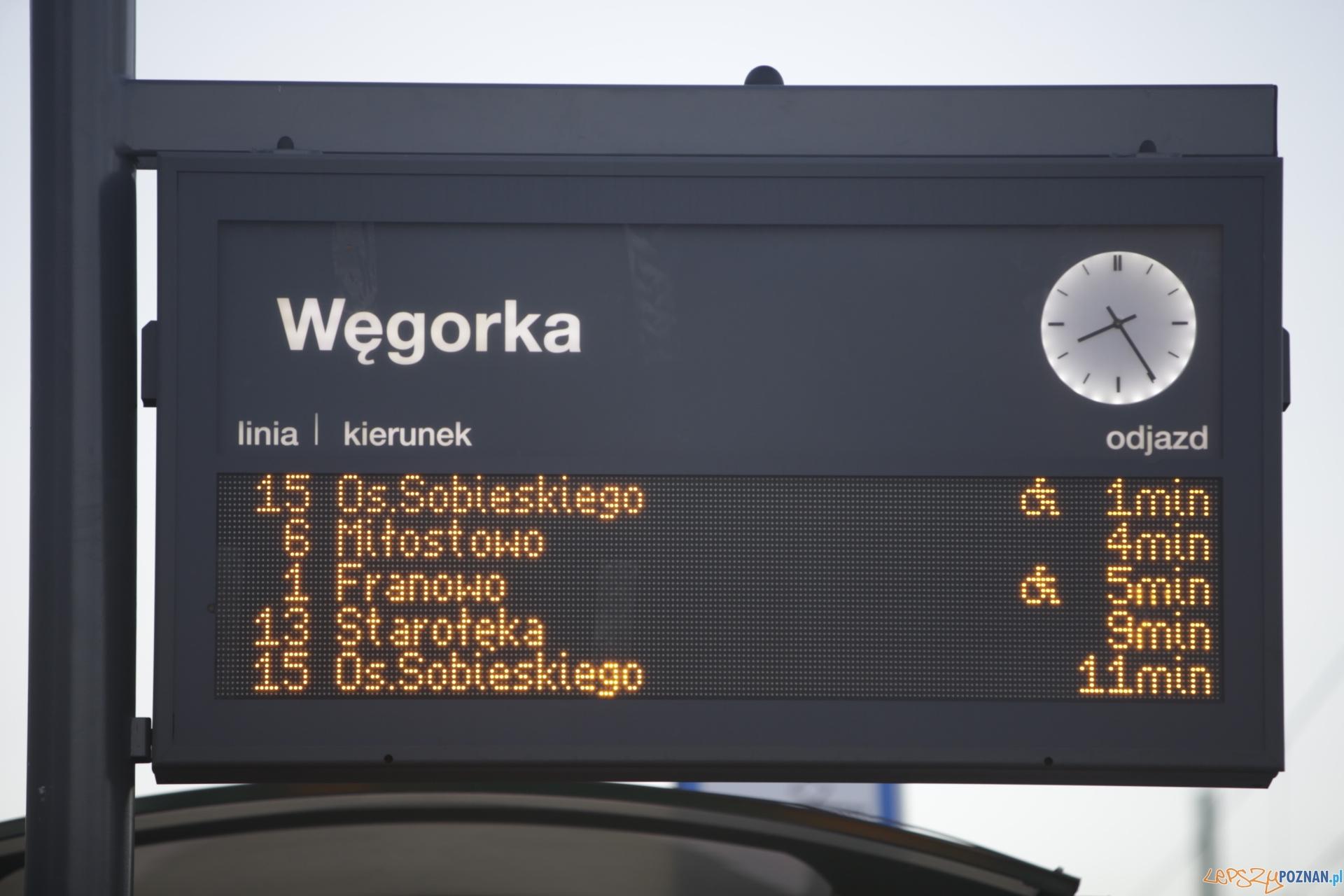 Tablica ITS Węgorka  Foto: lepszyPOZNAN.pl / Piotr Rychter