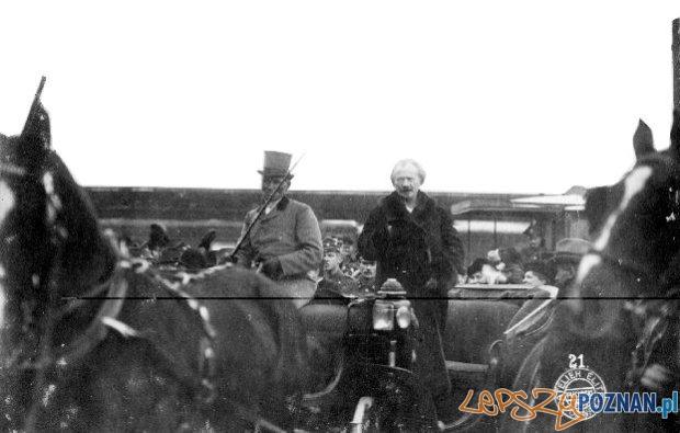Przyjazd Paderewskiego do Poznania  Foto: