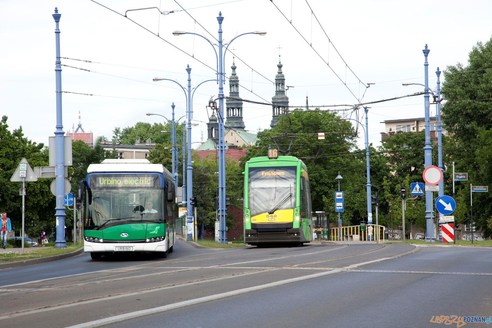Solarisy na ulicach Poznania - Autobus i tramwaj  Foto: Marcin Gorgolewski