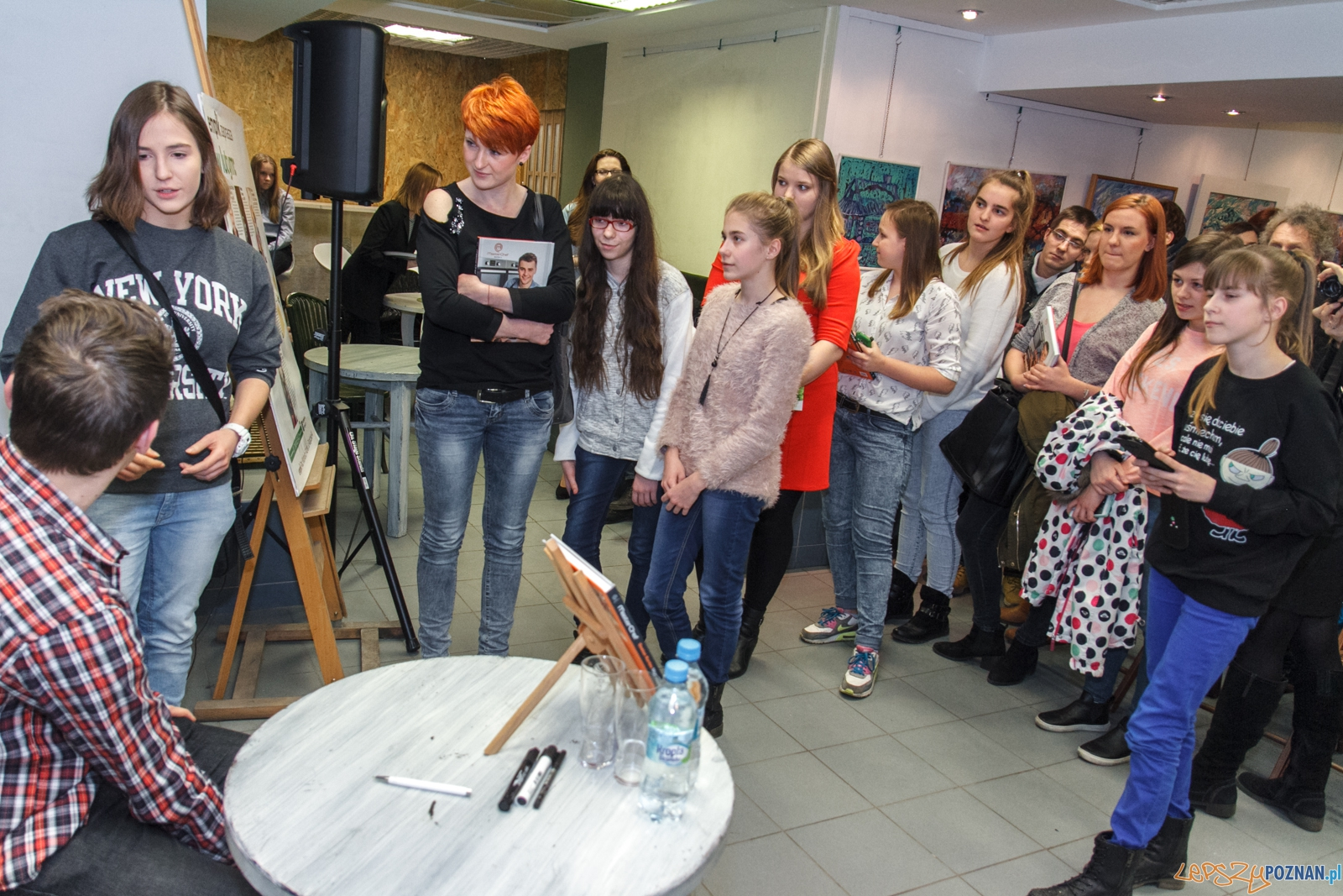 Spotkanie z Damianem Kordasem, finalistą 4 edycji konkursu Mast  Foto: LepszyPOZNAN.pl / Paweł Rychter