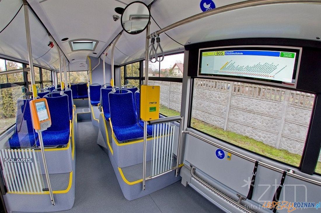 Nowe tablice informacyjne w autobusach ZTM  Foto: ZTM