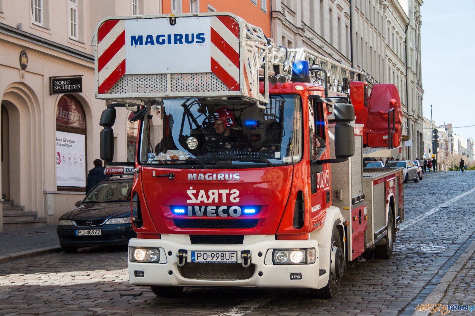 Straż pożarna / strażacy / strażak  Foto: © lepszyPOZNAN.pl / Karolina Kiraga
