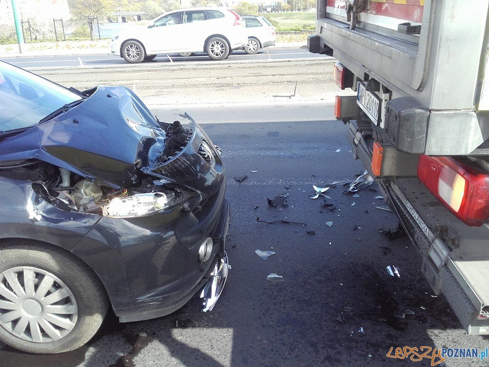 Wypadek na Estkowskiego  Foto: EuroHol