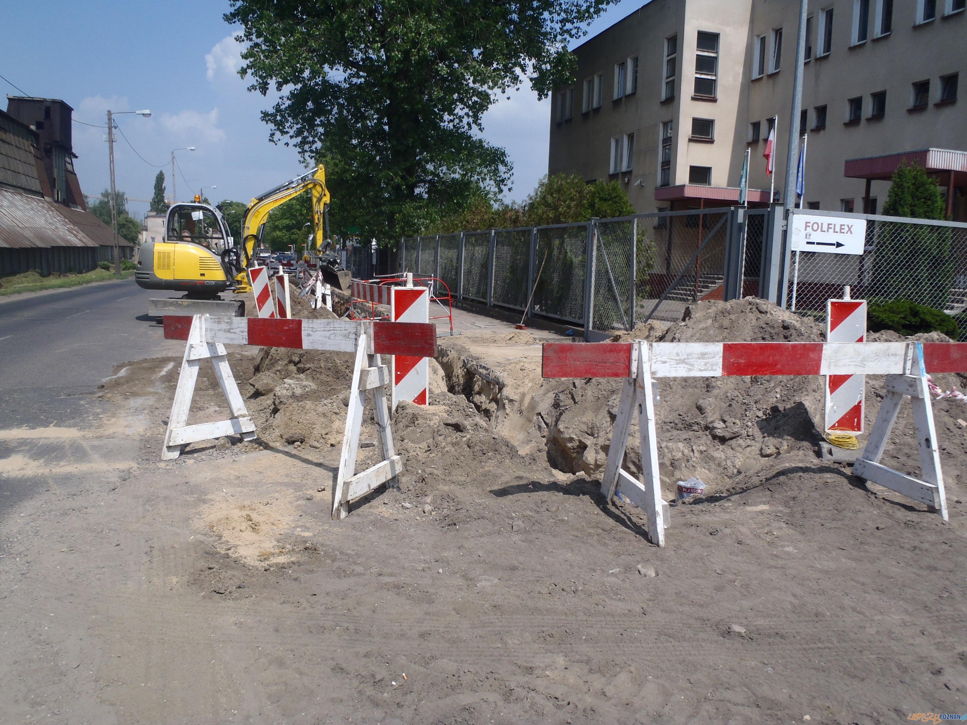 Wykopy na ulicy Krańcowej  Foto: Straż Miejska Poznań
