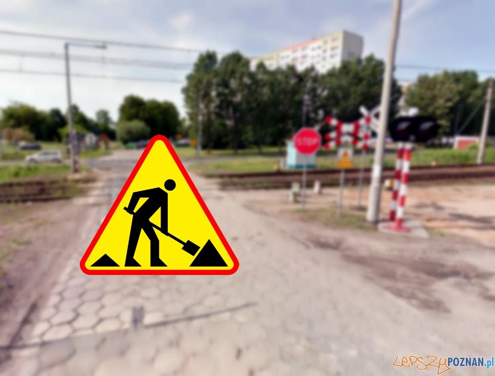 Zamknięty przejazd kolejowy  Foto: Google Street View