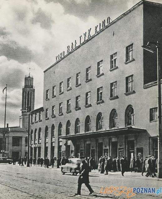 Kino Bałtyk - lata 50.te  Foto: poznan.wikia