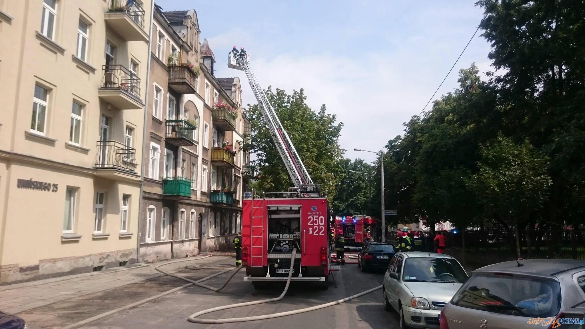 Pożar na Wildzie – znaleziono zwęglone zwłoki  Foto: twitter / @strazacki