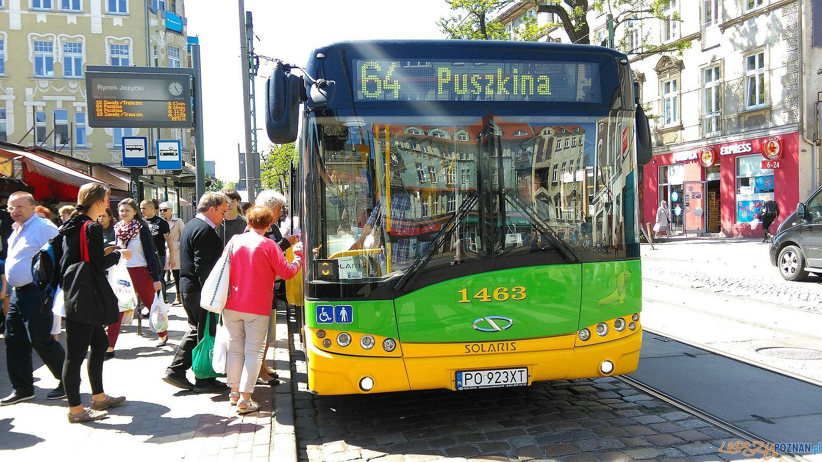 Autobus 64 na Kraszewskiego  Foto: TD