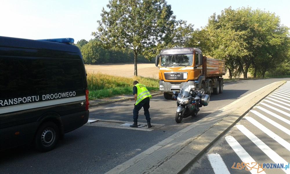 Ciężkie winy kierowców ciężarówek  Foto: WITD Poznań
