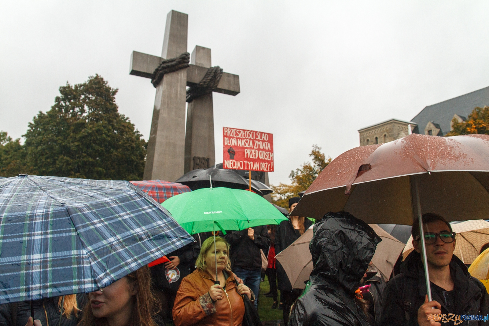 Czarny protest - Plac Mickiewicza Poznań 03.10.2016 r.  Foto: LepszyPOZNAN.pl / Paweł Rychter