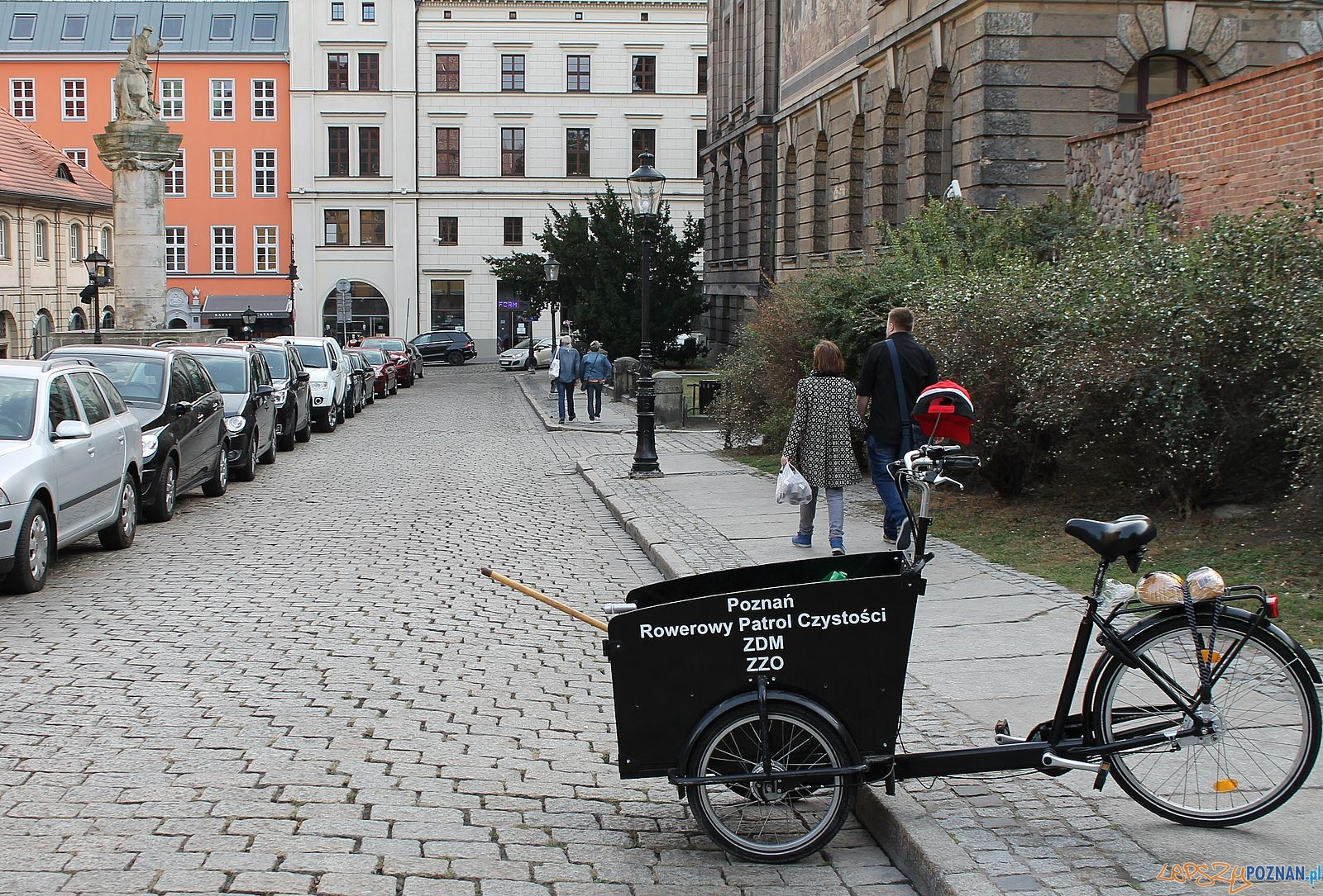 Rowerowy patrol czystości na Starym Mieście  Foto: Rada Osiedla Stare Miasto