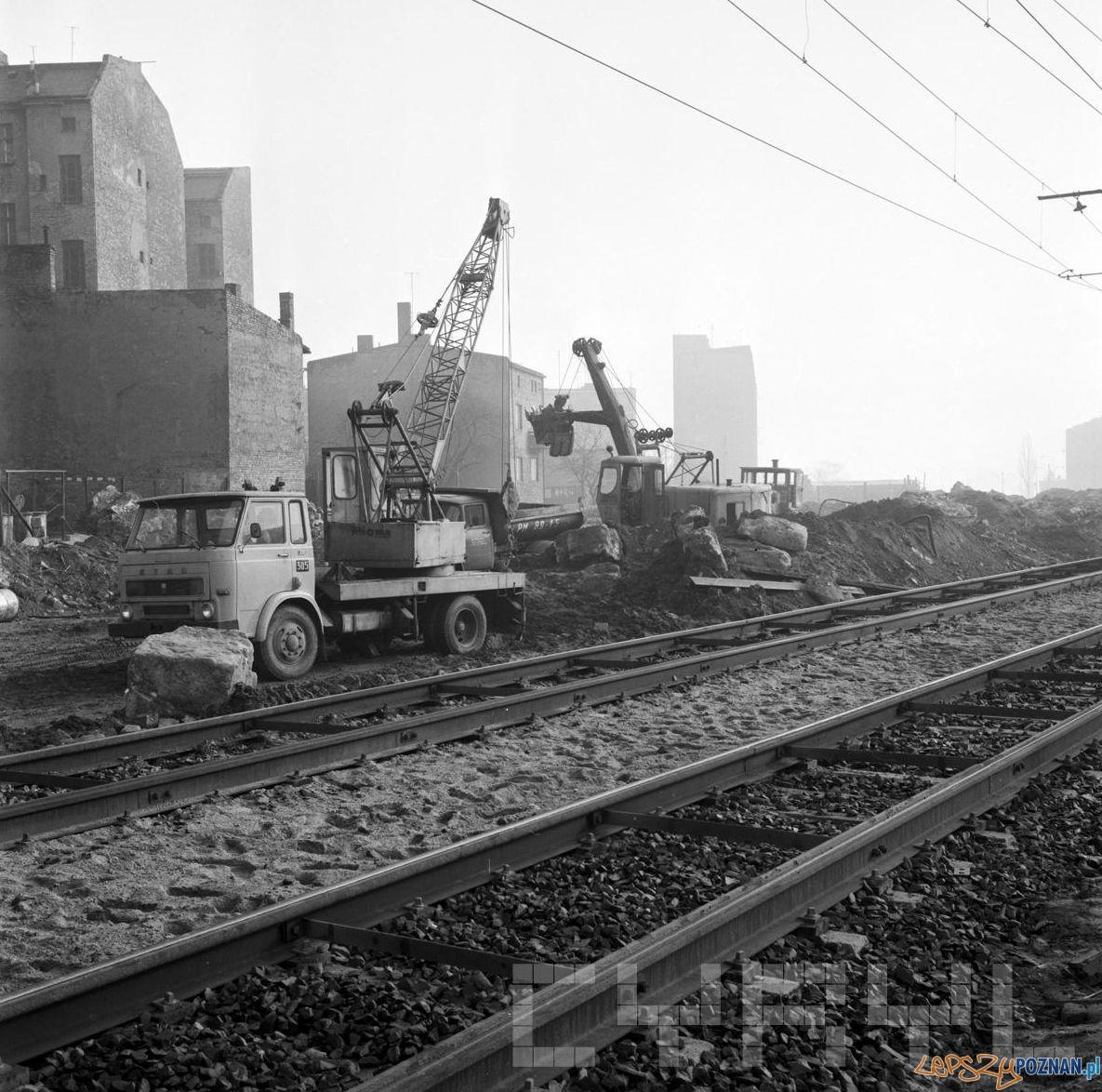 Budowa trasy Hetmańskiej - 1.02.1974  Foto: Stanisław Wiktor / Cyryl