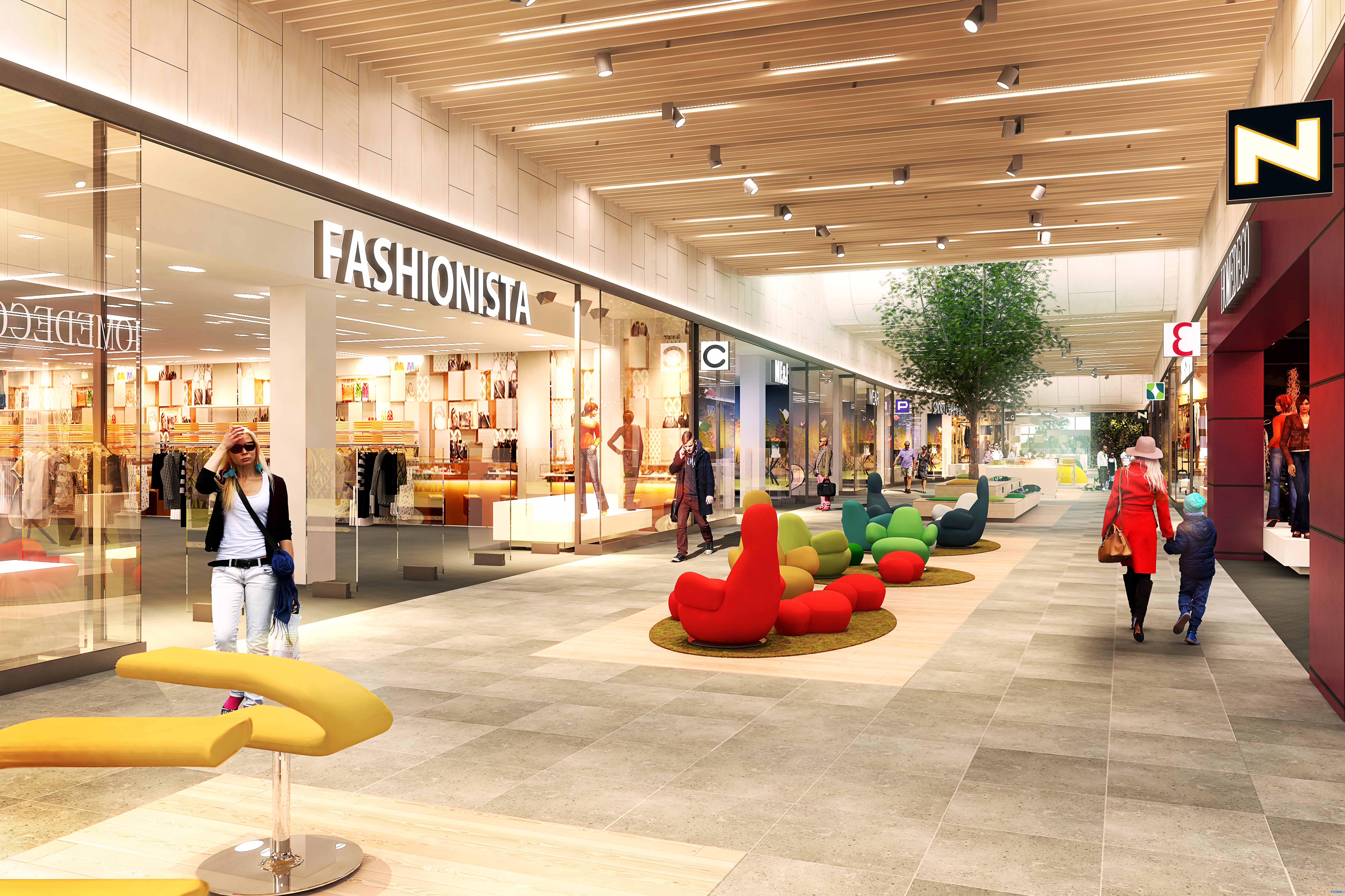 centrum handlowe Poznań Franowo po rozbudowie - wizualizacja  Foto: mat. prasowe