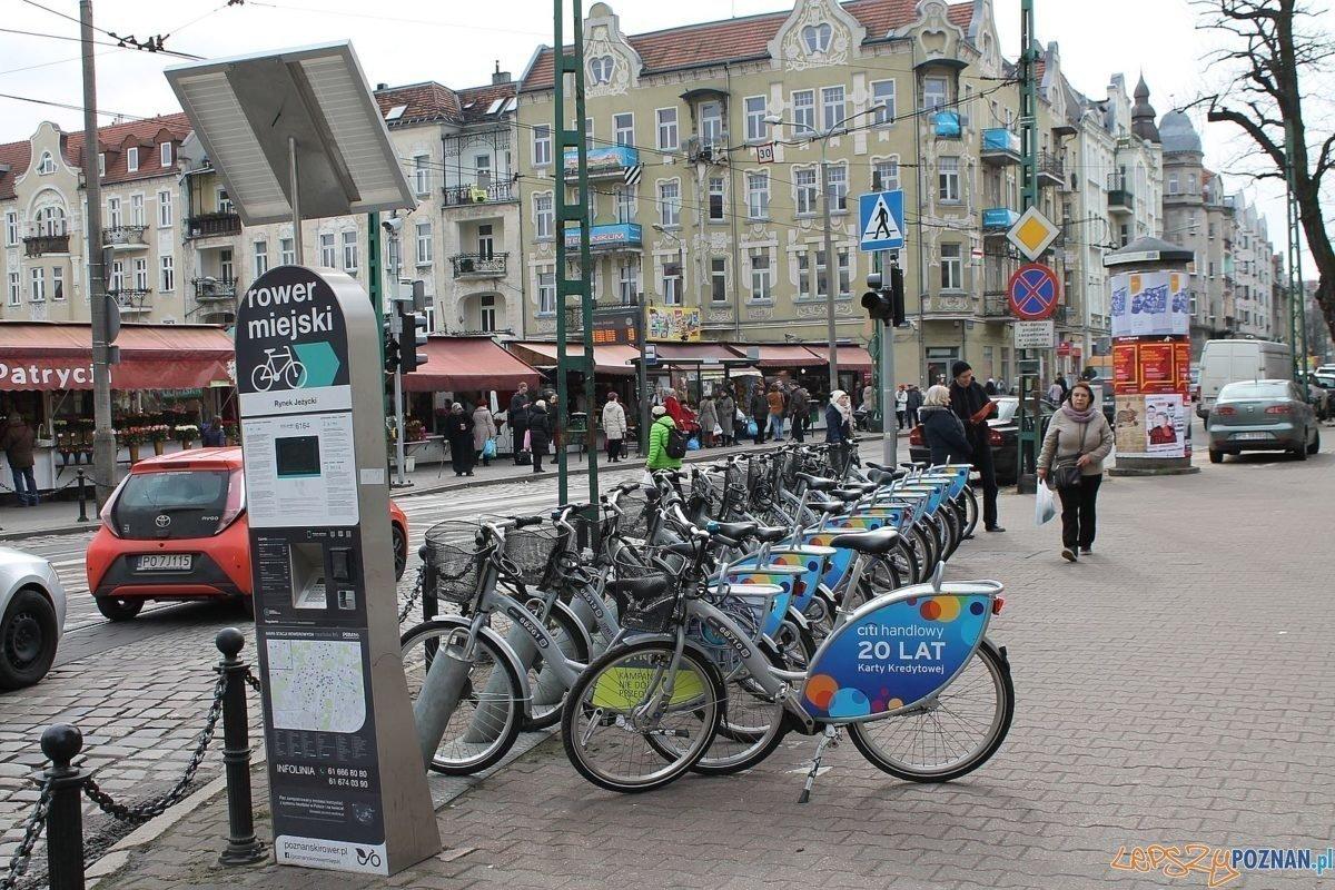 Stacja rowerowa Jeżyce - Kraszewskiego Foto: Tomasz Dworek