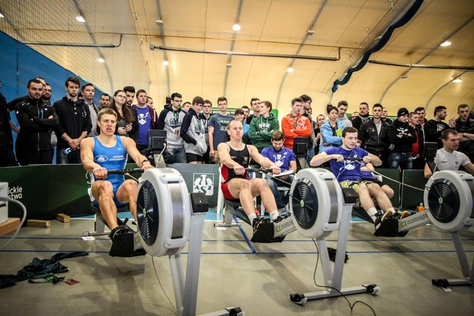 Akademickie Mistrzostwa Polski w ergometrze wioślarskim (2016)  Foto: fb/ampergometr / AZS
