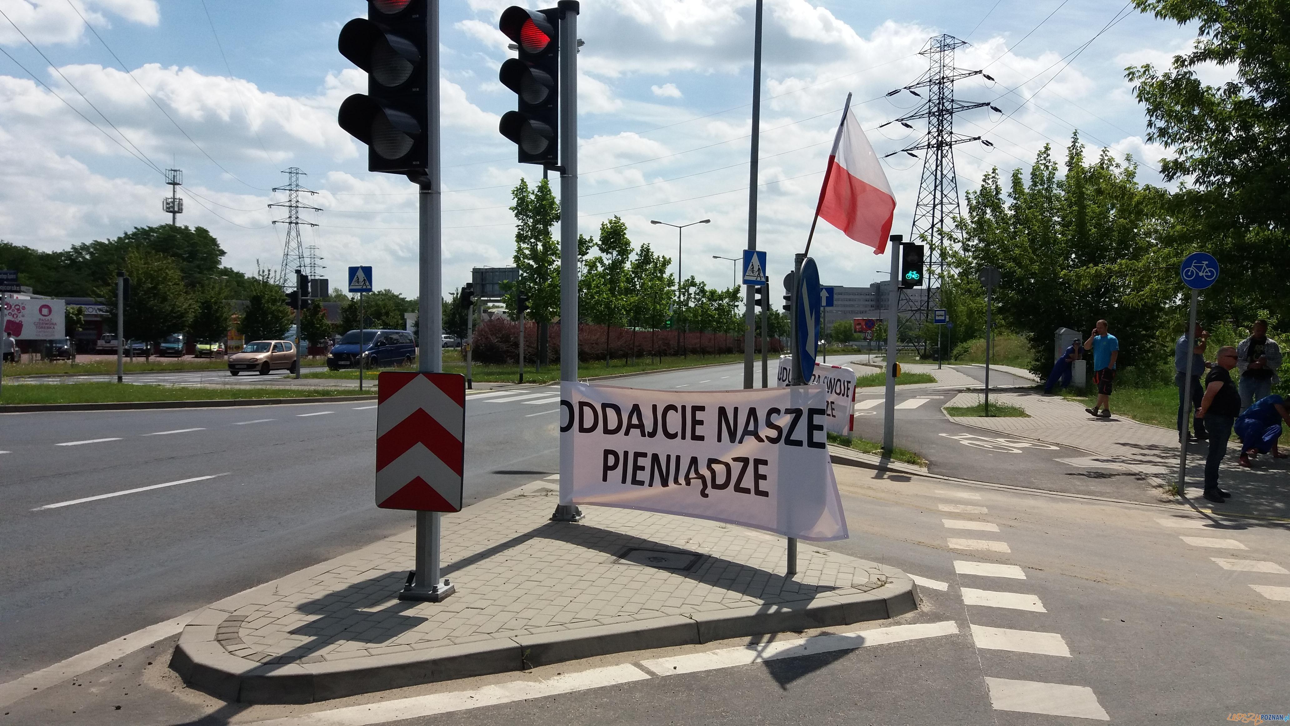 Protest: Budujcie za swoje, nie za nasze  Foto: lepszyPOZNAN.pl / gsm