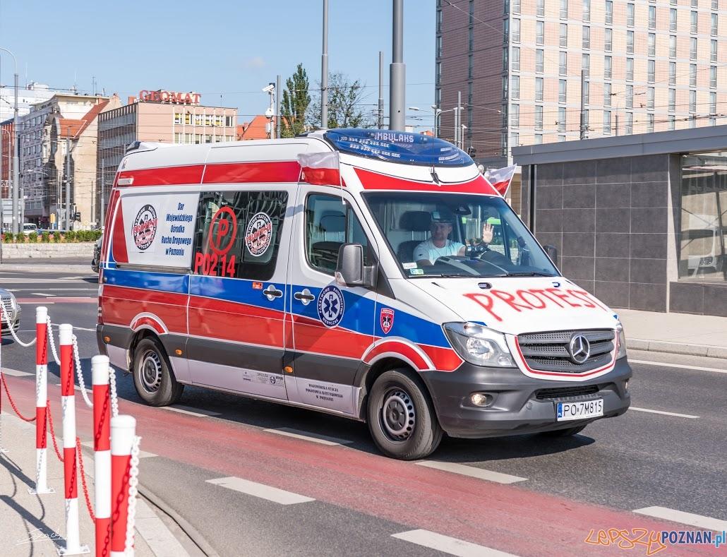 Protest ratowników medycznych (5)  Foto: ADAM SZACH
