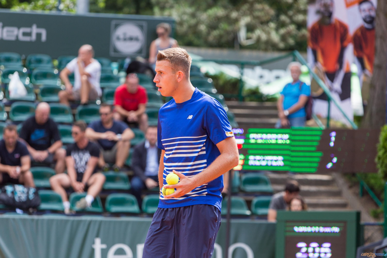 Michał Dembek (POL) vs Yannik Reuter (BEL)  Foto: lepszyPOZNAN.pl/Piotr Rychter