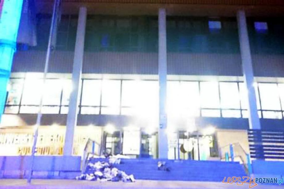 Pożar na Uniwersytecie Ekonomicznym  Foto: PSP Poznań