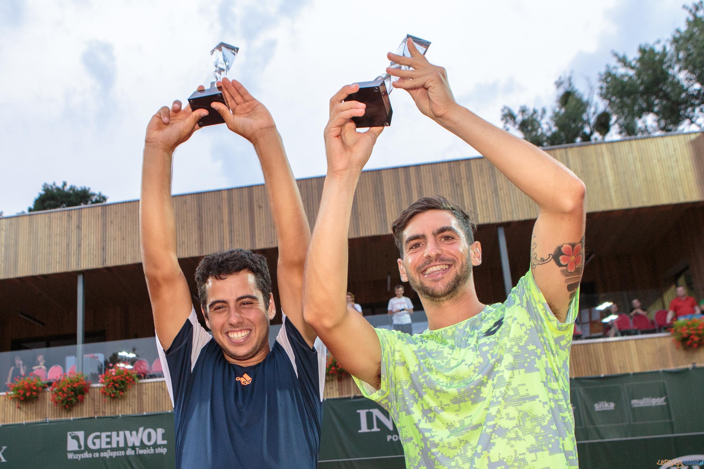 Zwyciężcy turnieju deblowego Poznań Open 2017 - 1. Guido Andr  Foto: Pawel Rychter