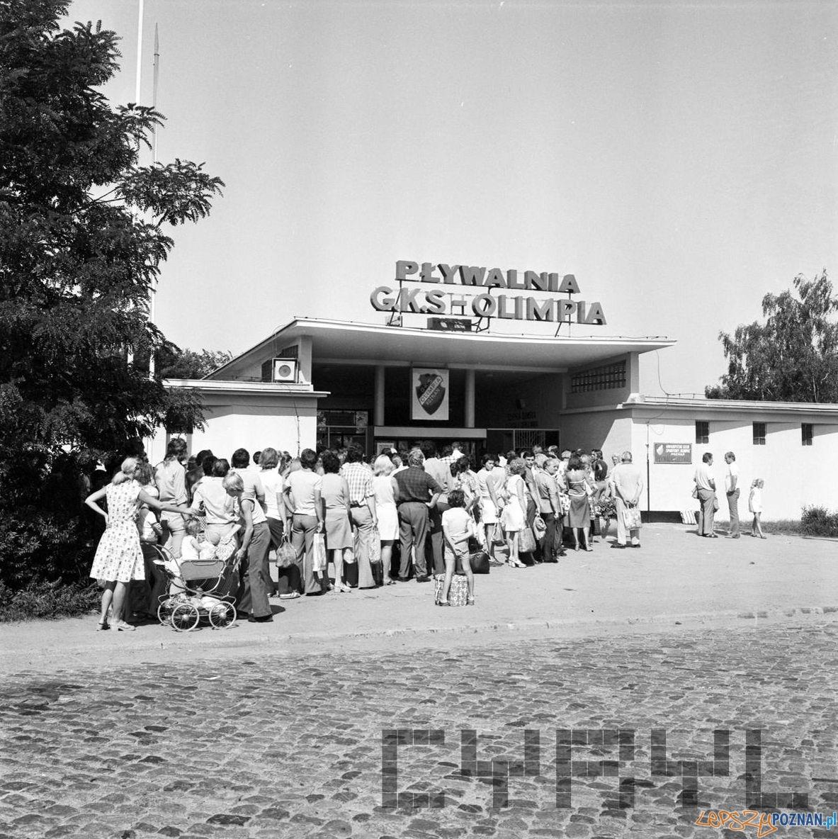 Pływalnia Olimpia Park Kasprowicza 10.08.1975  Foto: Stanisław Wiktor / Cyryl