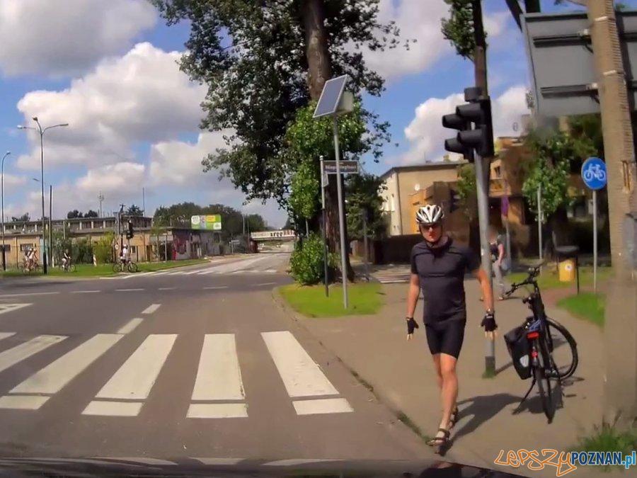 Mściwy rowerzysta?  Foto: monitoring