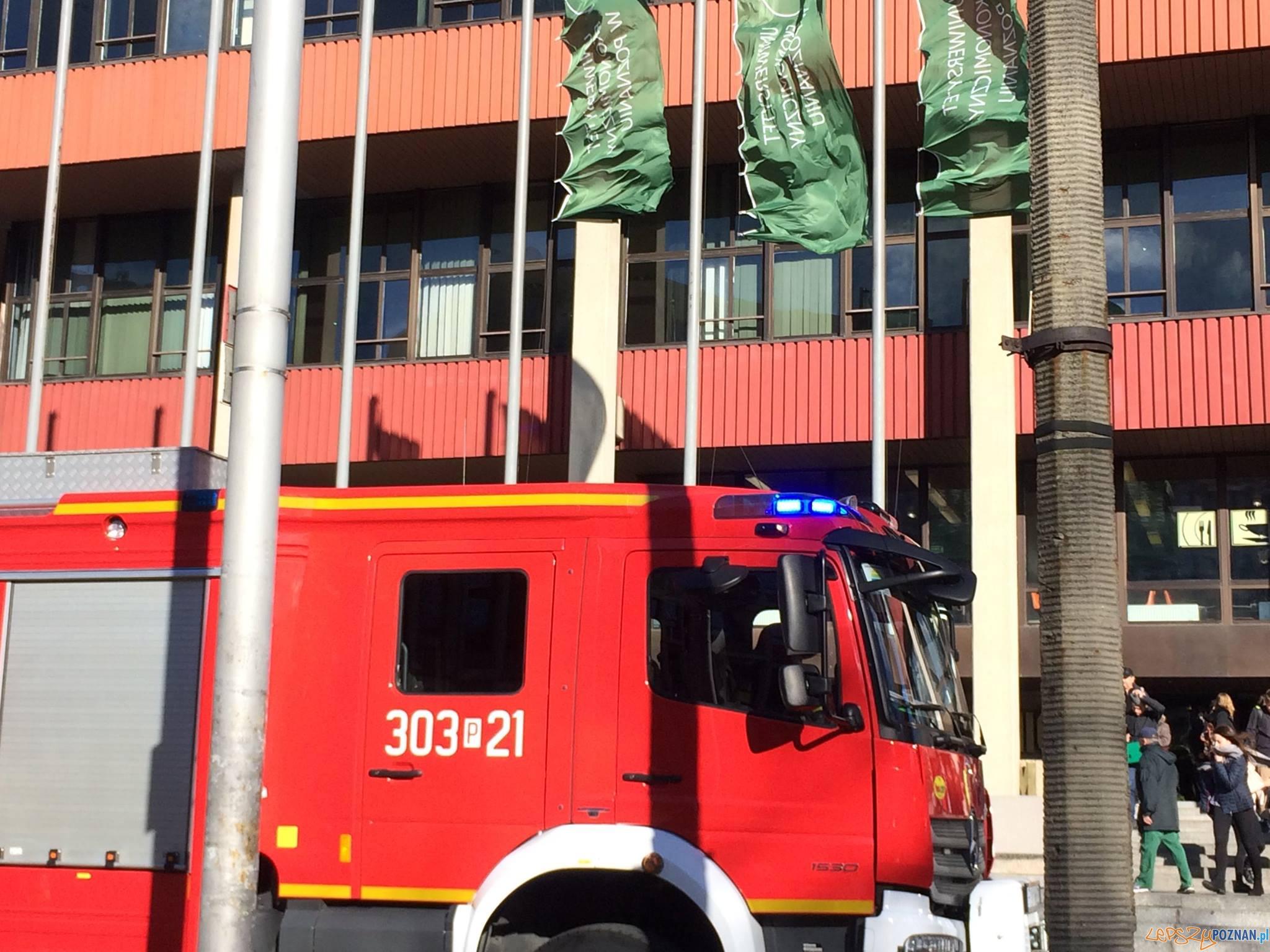 Straż Pożarna - ćwiczenia w Collegium Altum Uniwersytetu Ekonomicznego (6)  Foto: UEP / facebook