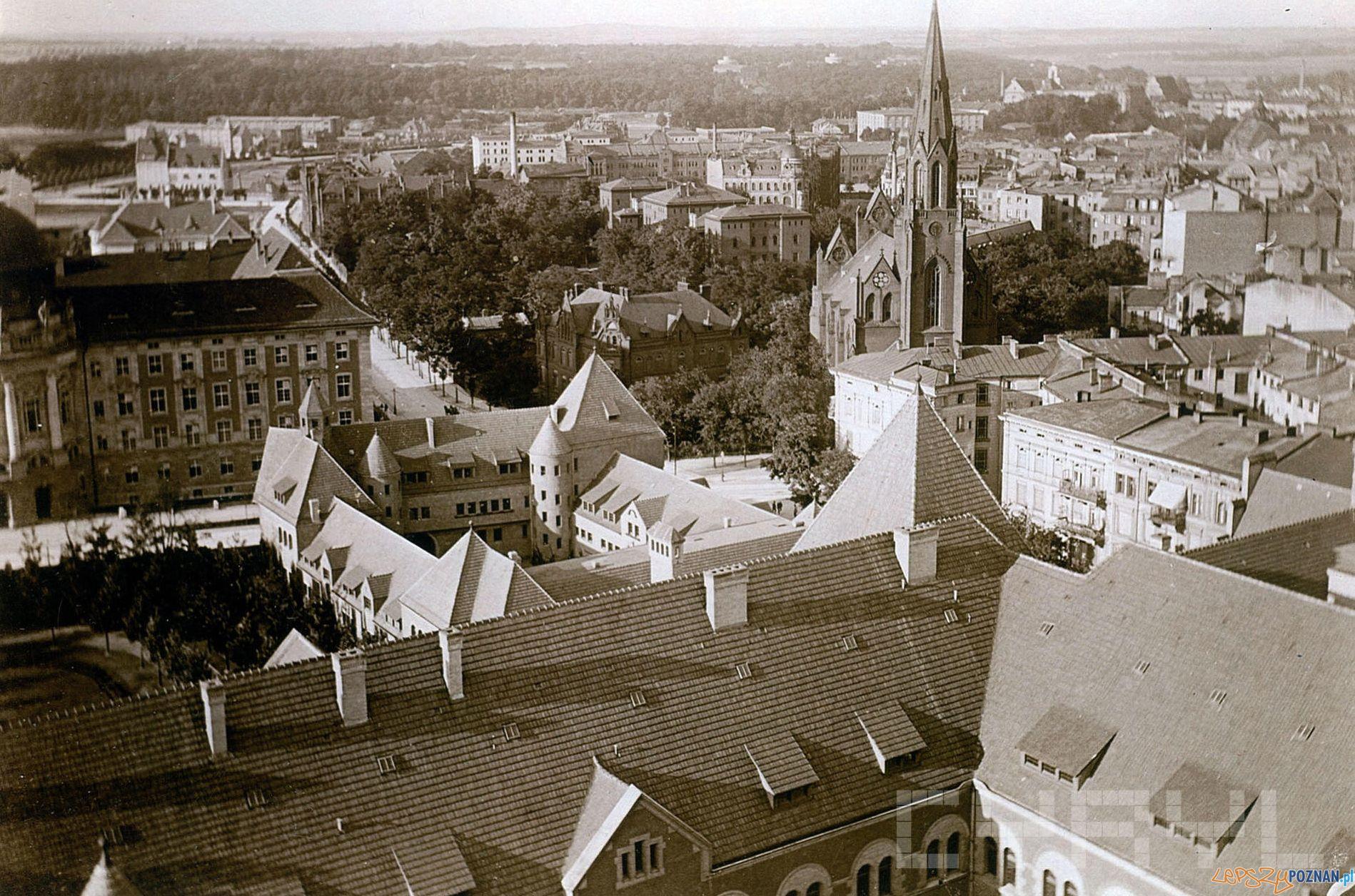 Dzielnica Cesarska z lotu ptaka 1911  Foto: Joseph Latzel Ze zb. Brigitte i Everhardta Franßen CK Zamek - Cyryl