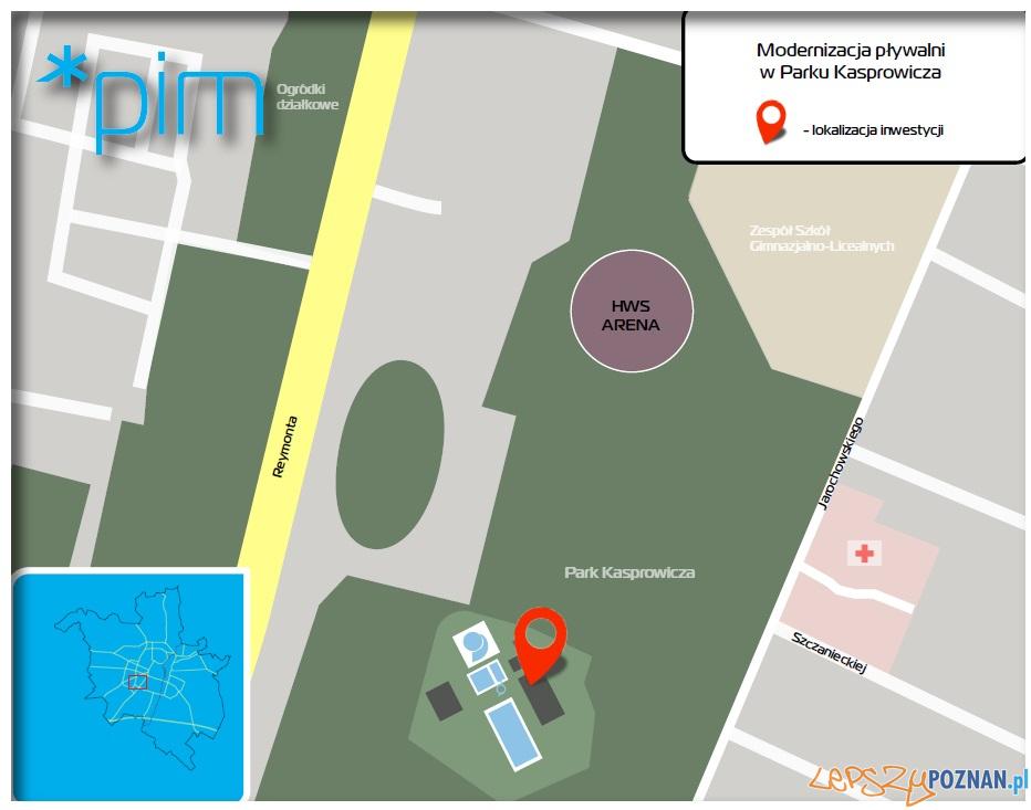 Trwa remont pływalni w parku Kasprowicza - plan sytuacyjny  Foto: