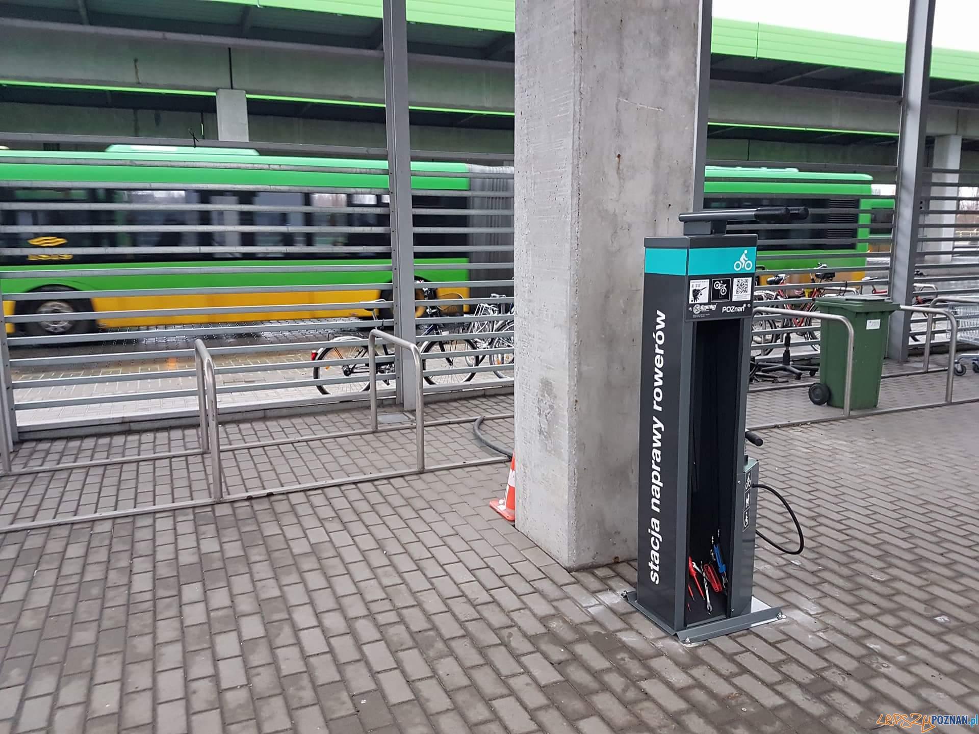 Samoobsługowa stacja napraw rowerów na Piątkowie  Foto: ZTM