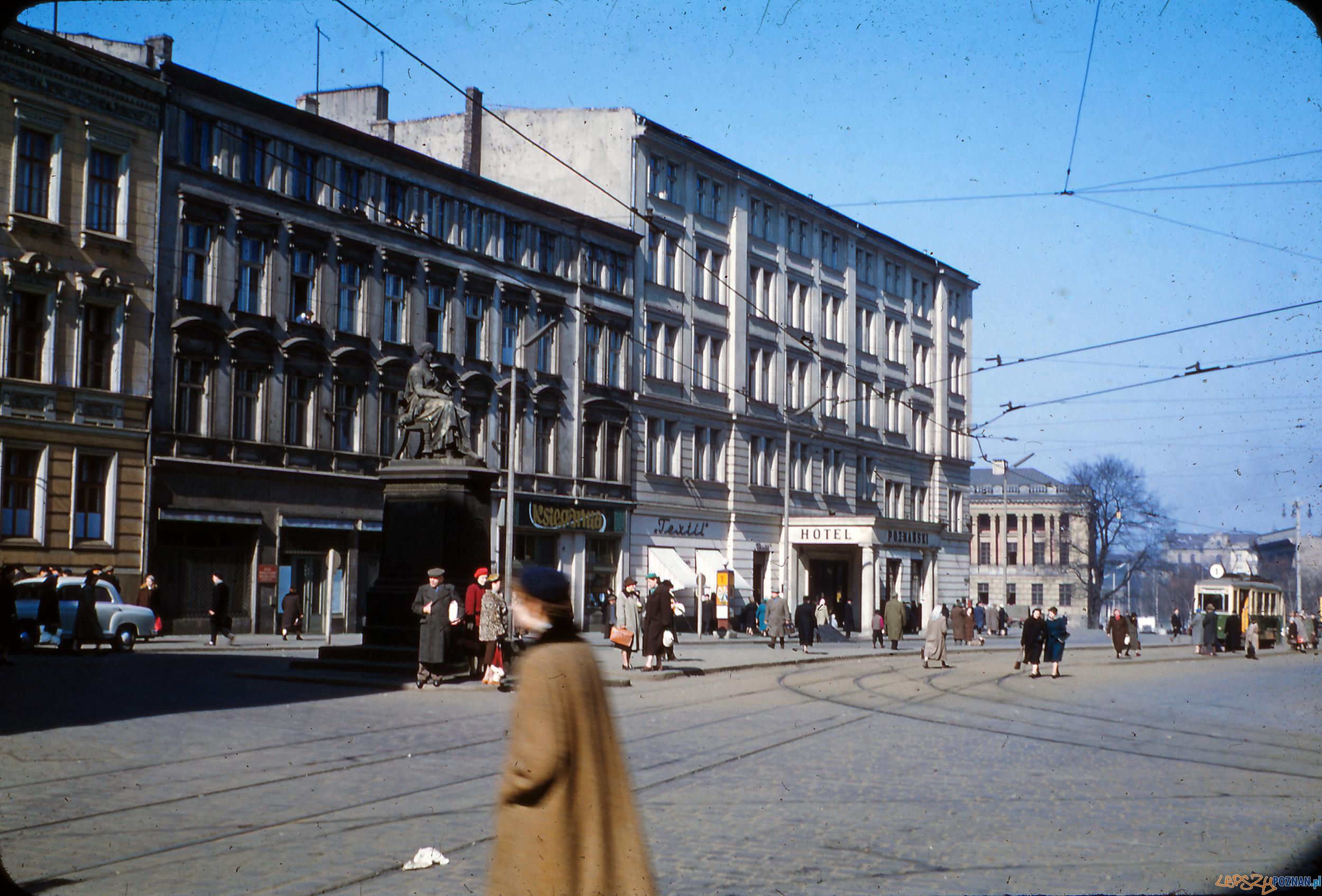 Aleje Marcinkowskiego - koniec lat 50-tych  Foto: Mogens Tørsleff, kolekcja Gorma Rudschinata / Flickr / CC