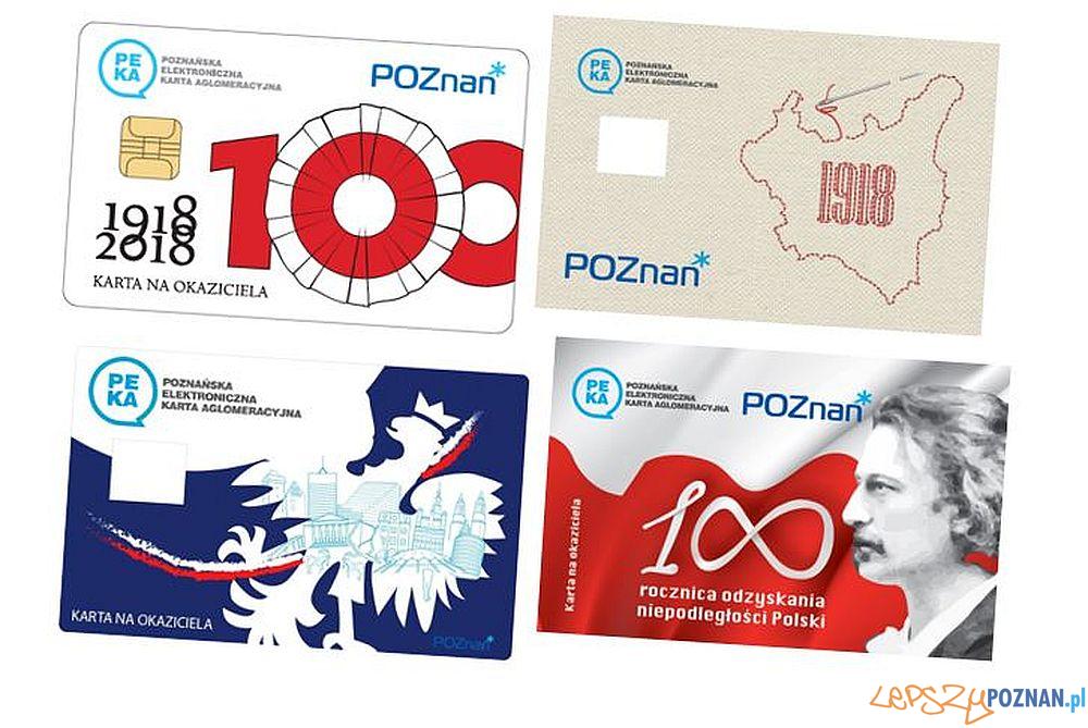 Karty PEKA na okaziciela 100 lat niepodległości Polski  Foto: ZTM / materiały prasowe