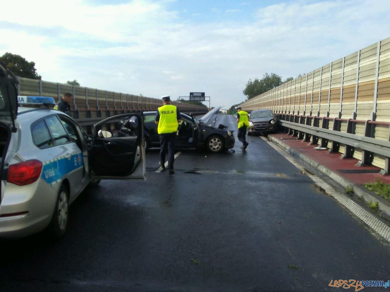 Wypadek na trasie S11  Foto: Pomoc Drogowa Car Center