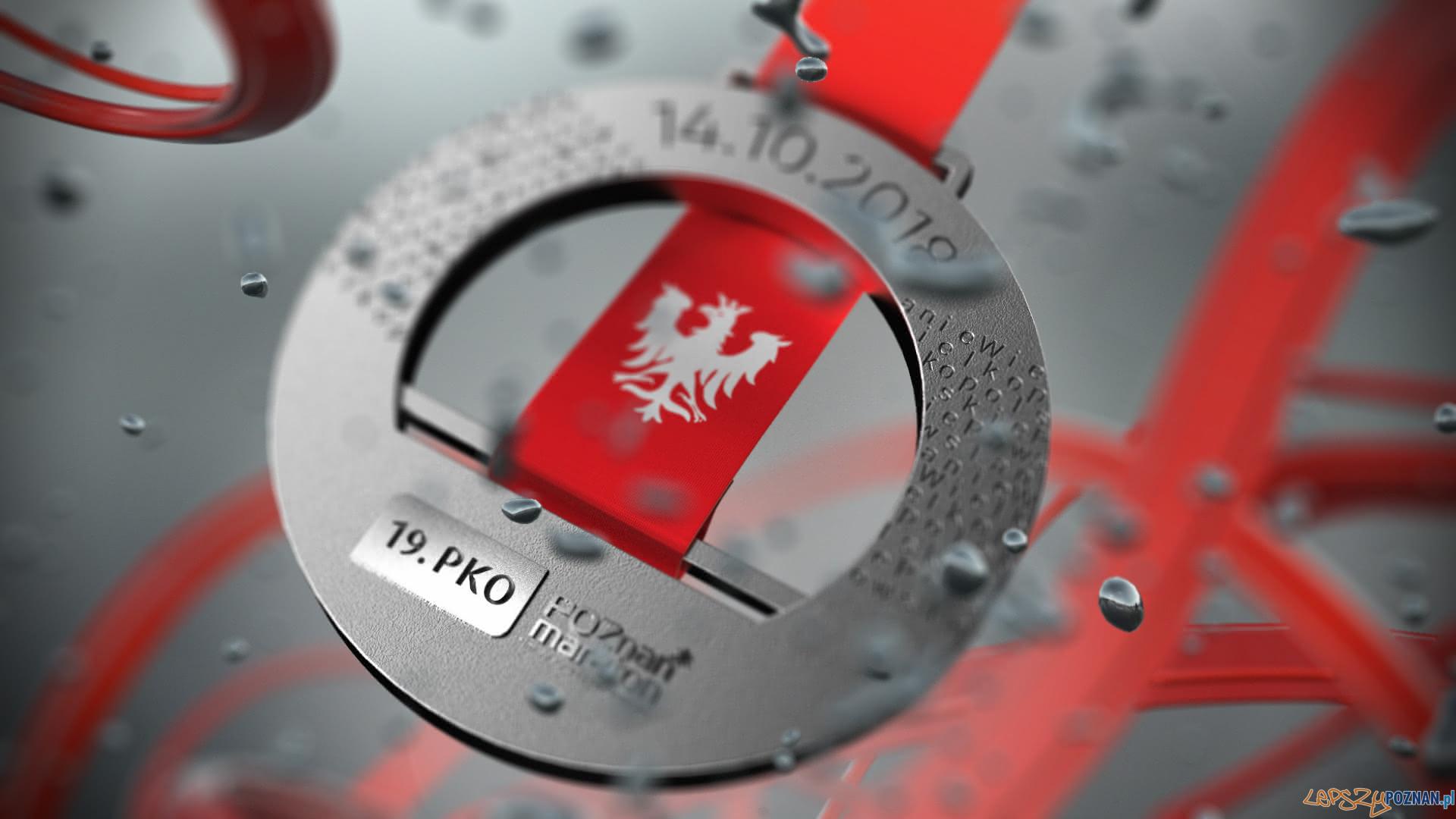 Medal 19. Poznań Maratonu  Foto: POSiR / materiały prasowe