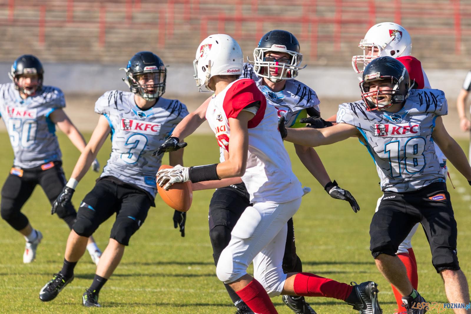 JLFA: Patrioci Poznań - Panthers Wrocław 0:46 - Poznań 13.10.  Foto: LepszyPOZNAN.pl / Paweł Rychter