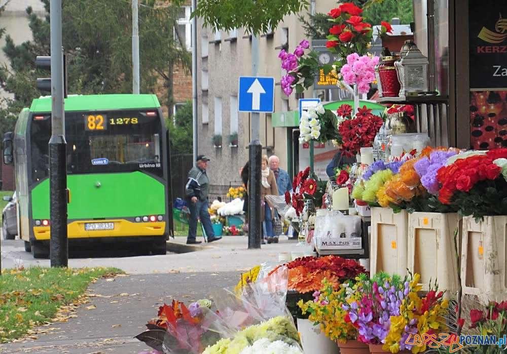 Autobus linii 82 przed cmentarzem gorczynskim  Foto: ZTM / materiały prasowe