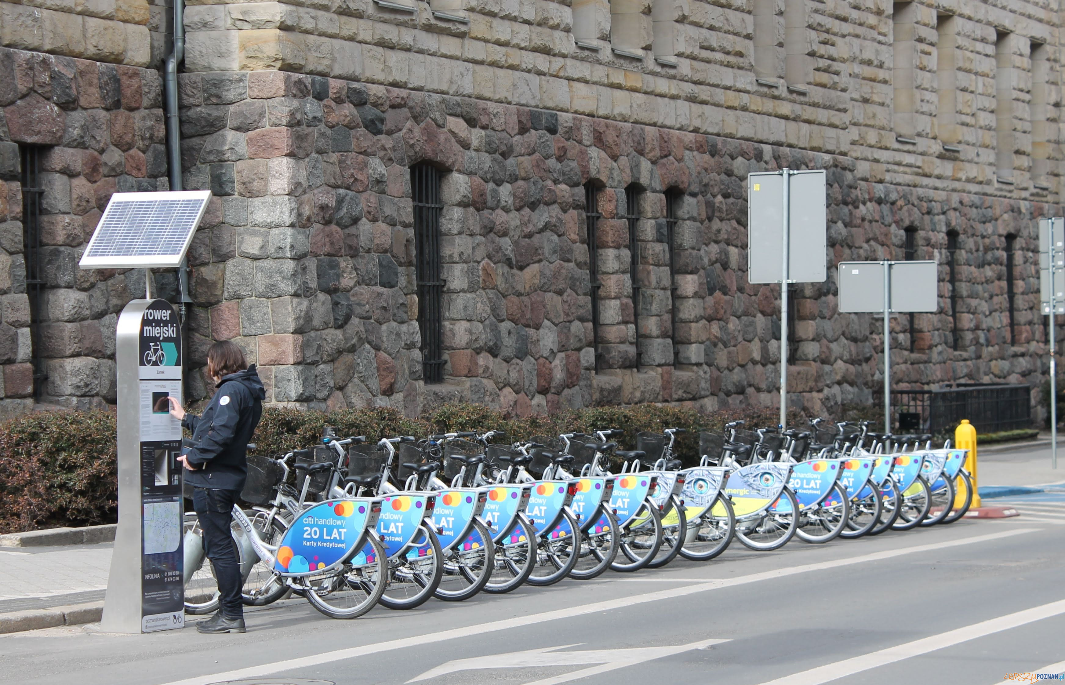 CK Zamek stacja rower  Foto: T. Dworek