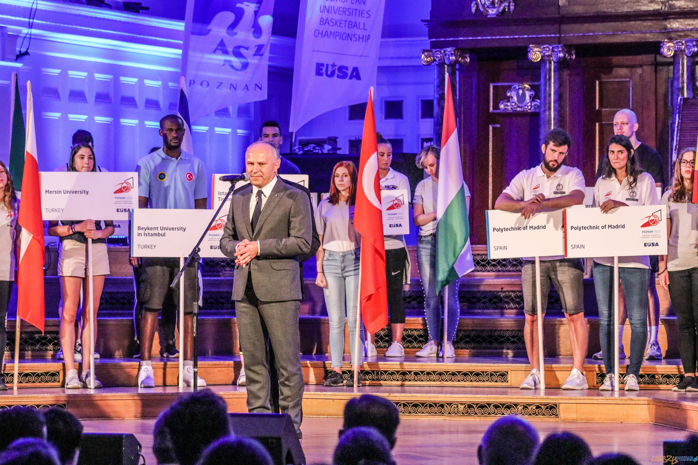 otwarcia Akademickich Mistrzostw Europy w koszykówce  Foto: materiału prasowe / Dawid Szafraniak