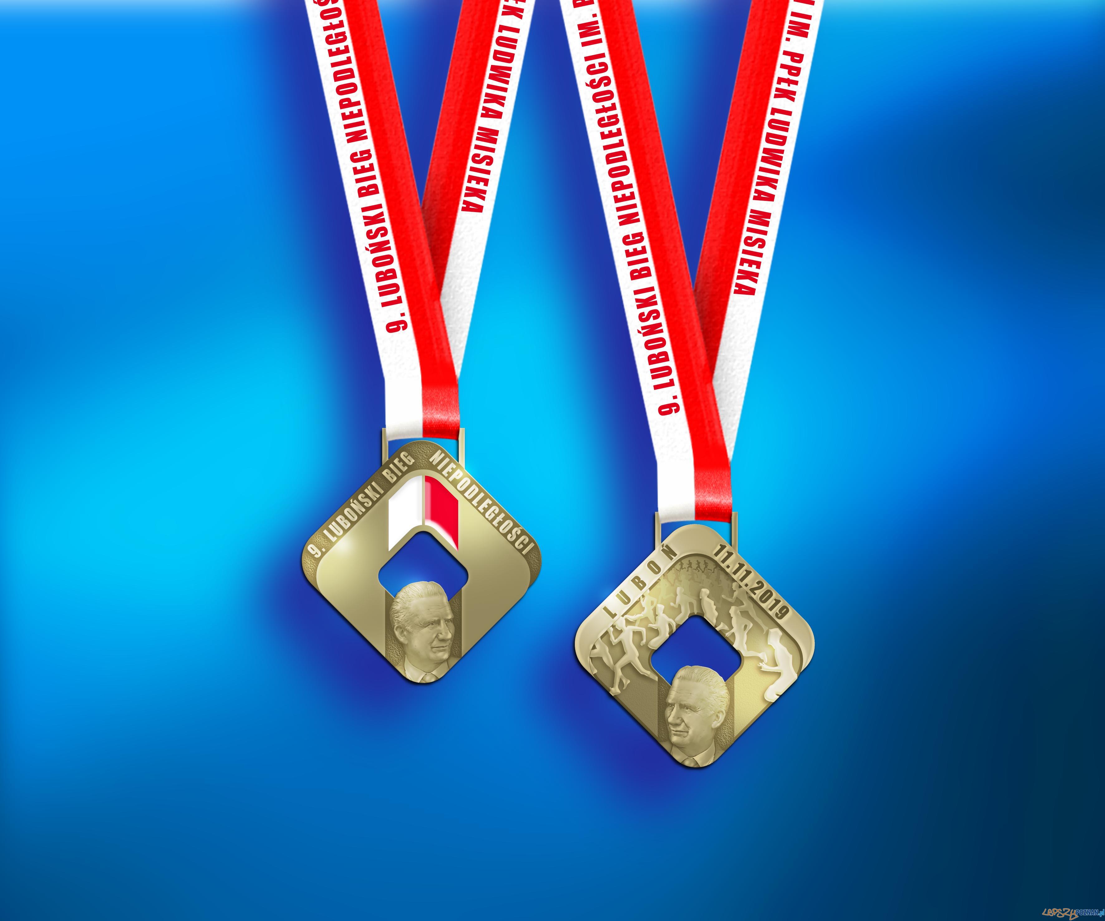 Medal lubońskiego Biegu Niepodległości  Foto: materiały prasowe