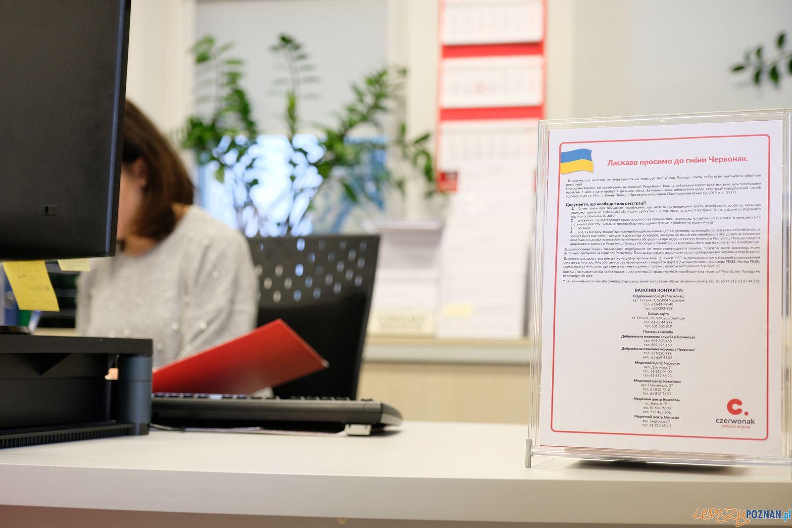 Ukraińcy w Czerwonaku  Foto: B.Wicher / UMiG w Czerwonaku