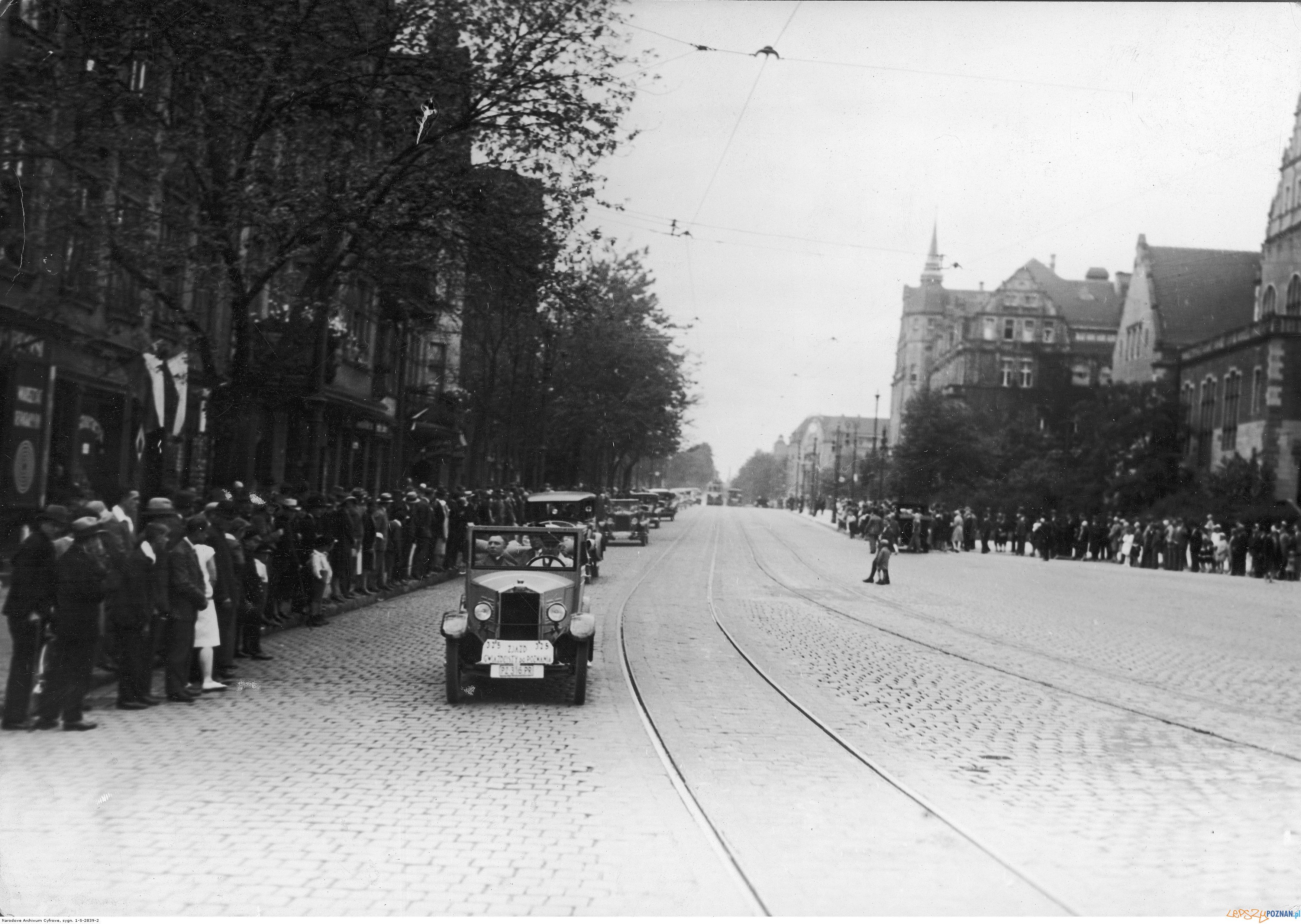 Św. Marcin - rajd gwiaździsty, lipiec 1929  Foto: NAC - Ilustrowany Kurier Codzienny / lic. CC