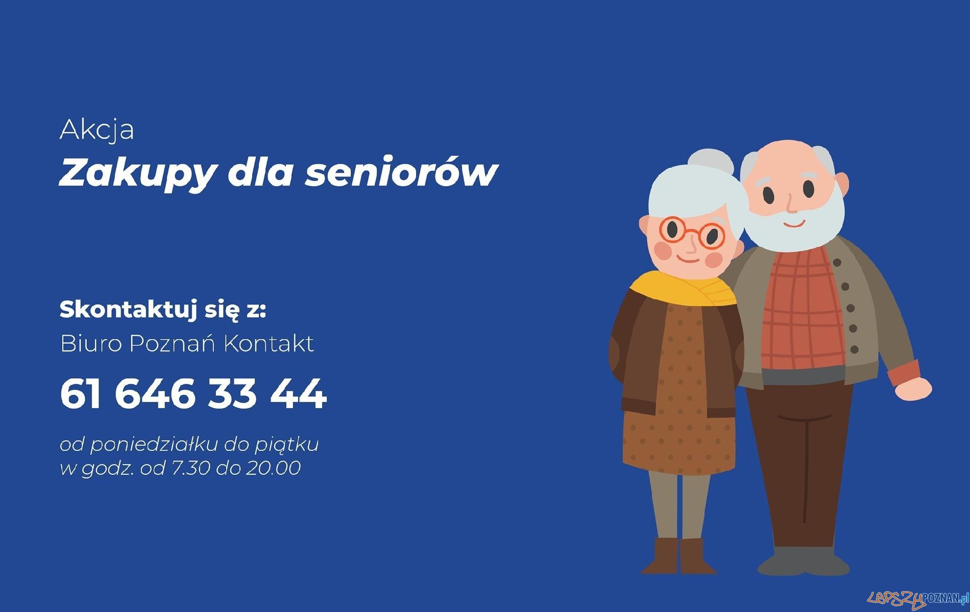 Zakupy dla Seniorów  Foto: materiały prasowe / UMP