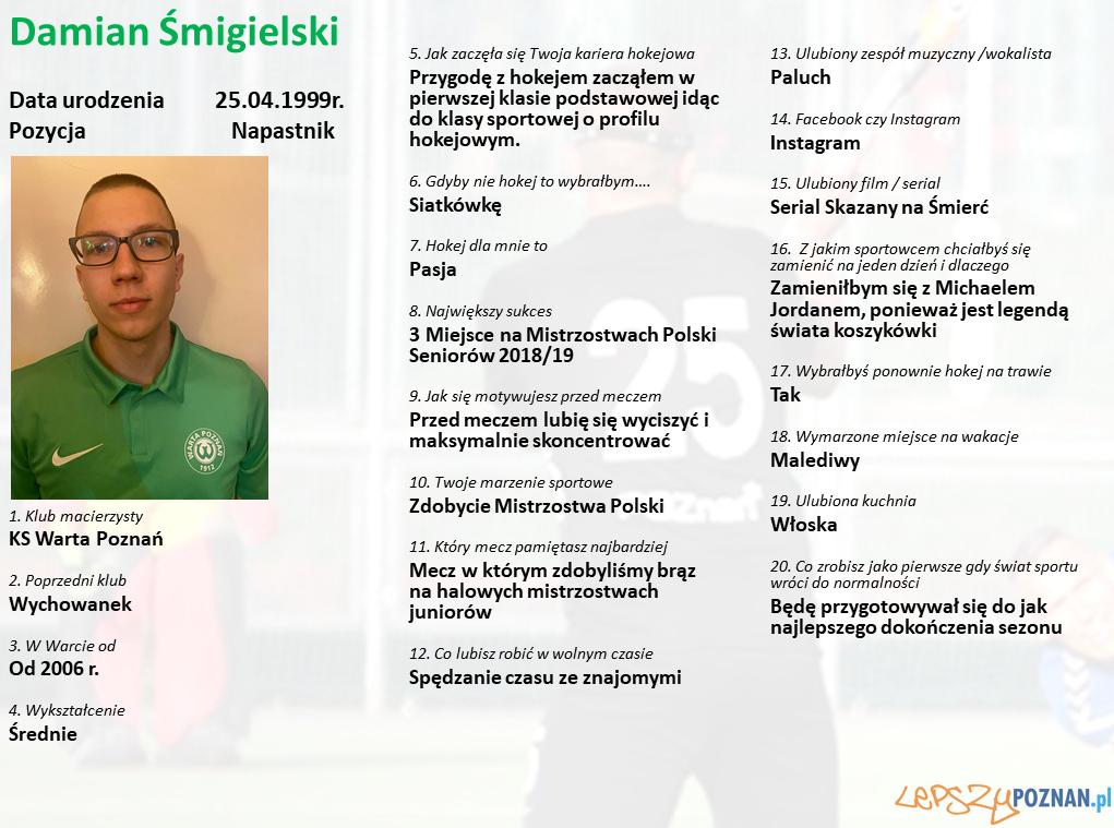 Warta Poznań - Damian Śmigielski Foto: Warta Poznań / materiały prasowe